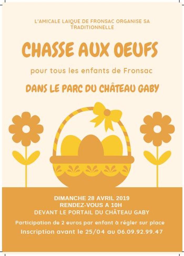 Chasse aux œufs dans le parc du Château Gaby
