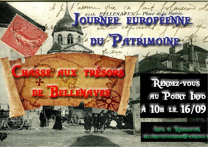 Journées du patrimoine 2017 - Chasse aux trésors de Bellenaves
