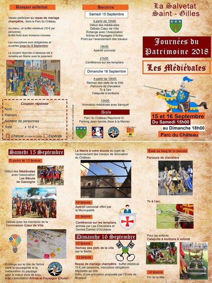 Journées du patrimoine 2018 - Les Médiévales