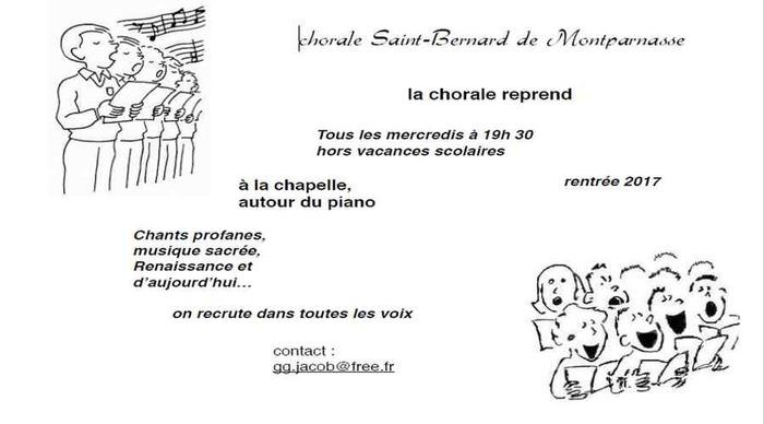 Chorale de Saint Bernard - Lundi 19h30