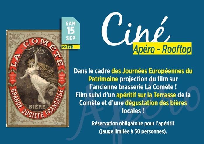 Journées du patrimoine 2018 - Ciné apéro – Rooftop à La Comète