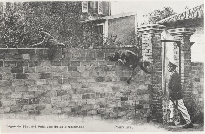 Crédits image : S.n., Ligue de sécurité publique de Bois-Colombes. Poursuivi !, S.E., [début du 20e siècle] - AMBC
