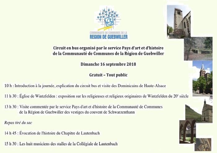 Journées du patrimoine 2018 - Circuit en bus organisé par le service Pays d'art et d'histoire de la Région de Guebwiller