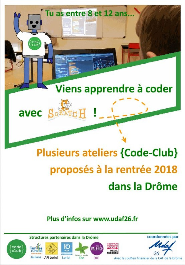 Atelier Code Club à Jaillans