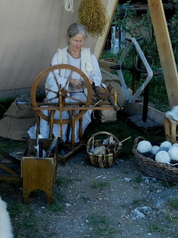 Journées du patrimoine 2017 - Coeur de Tr'âme, filage et tissage comme au Moyen Age