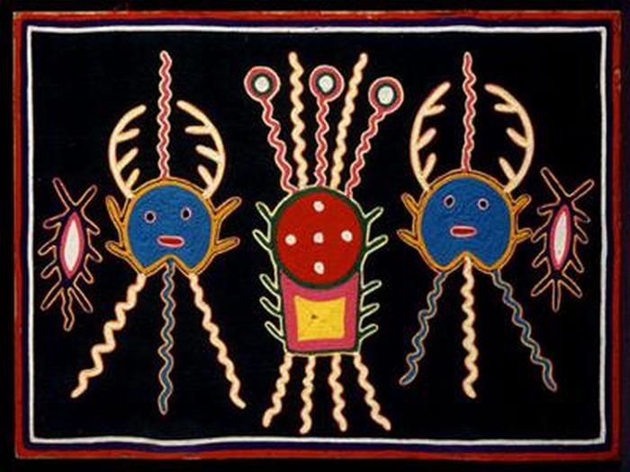 Crédits image : © Huichol, Etat de Jalisco, Mexique Signé : José Benitez Collection François Reichenbach