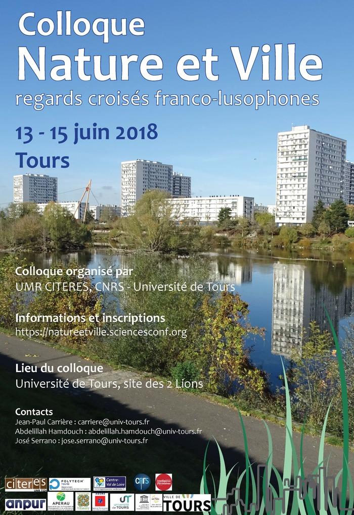 Colloque Nature et Ville : regards croisés franco-lusophones (13-15 juin 2018)