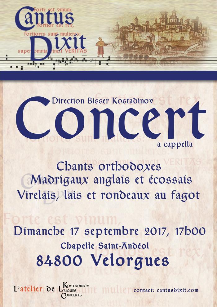 Journées du patrimoine 2017 - Concert à la chapelle de Velorgues