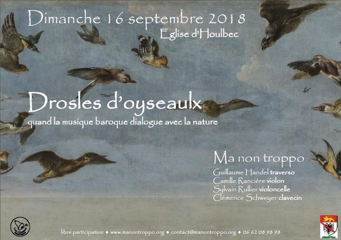 Journées du patrimoine 2018 - Concert Drosles d'oyseaulx à l'église St Pierre du Bas Houlbec