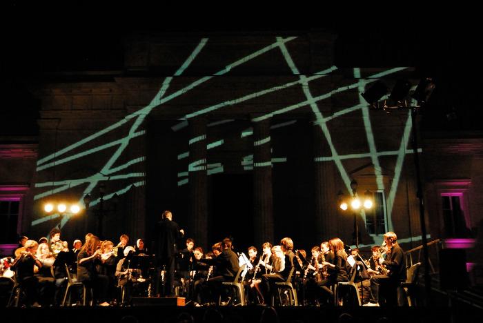 Journées du patrimoine 2018 - Concert d'ouverture des Journées Européennes du Patrimoine par l'orchestre d'harmonie du conservatoire municipal.