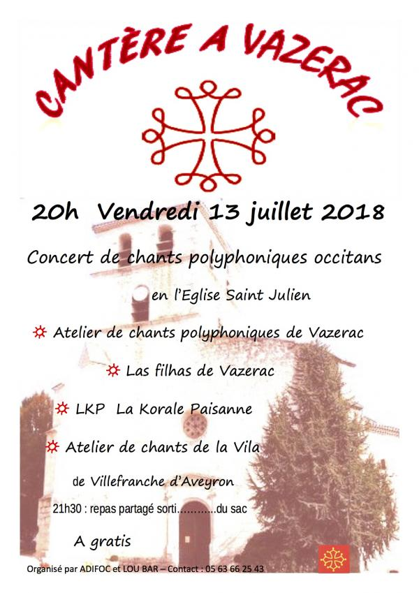 Concert de chants polyphoniques occitans