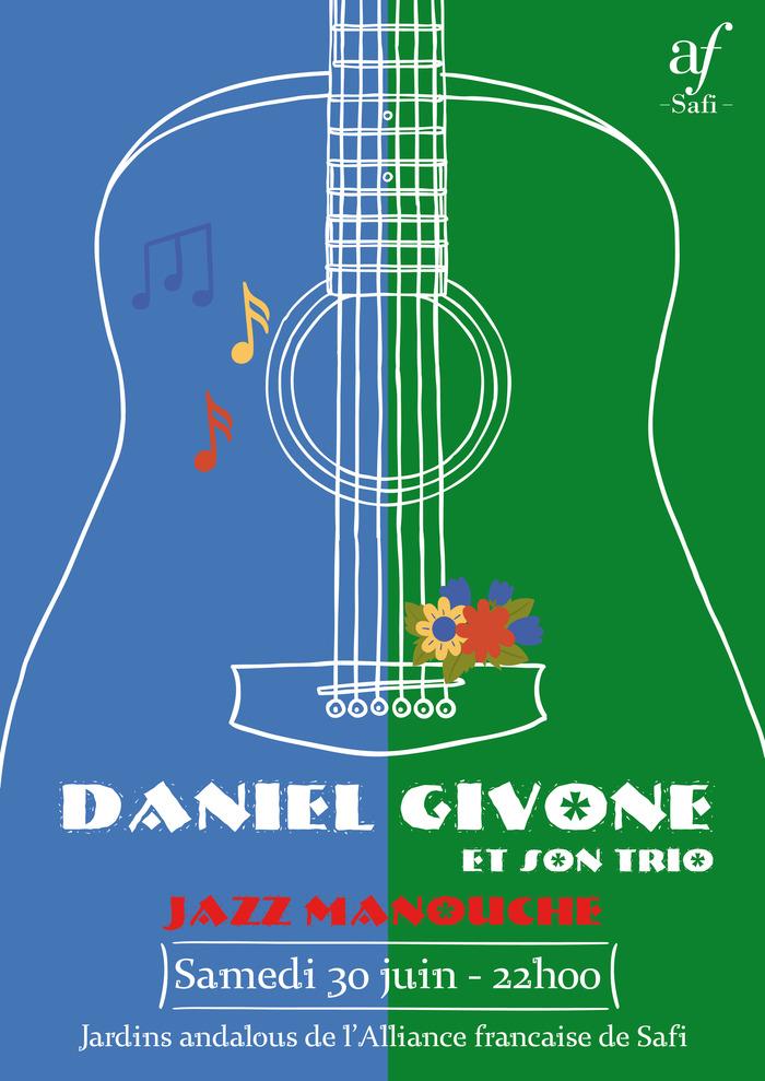 Concert de Jazz Manouche, Daniel Givone et son trio