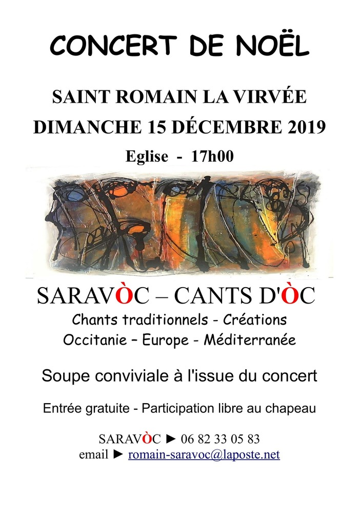 Concert de Noël - chants traditionnels, créations Occitanie, Europe, Méditerranée