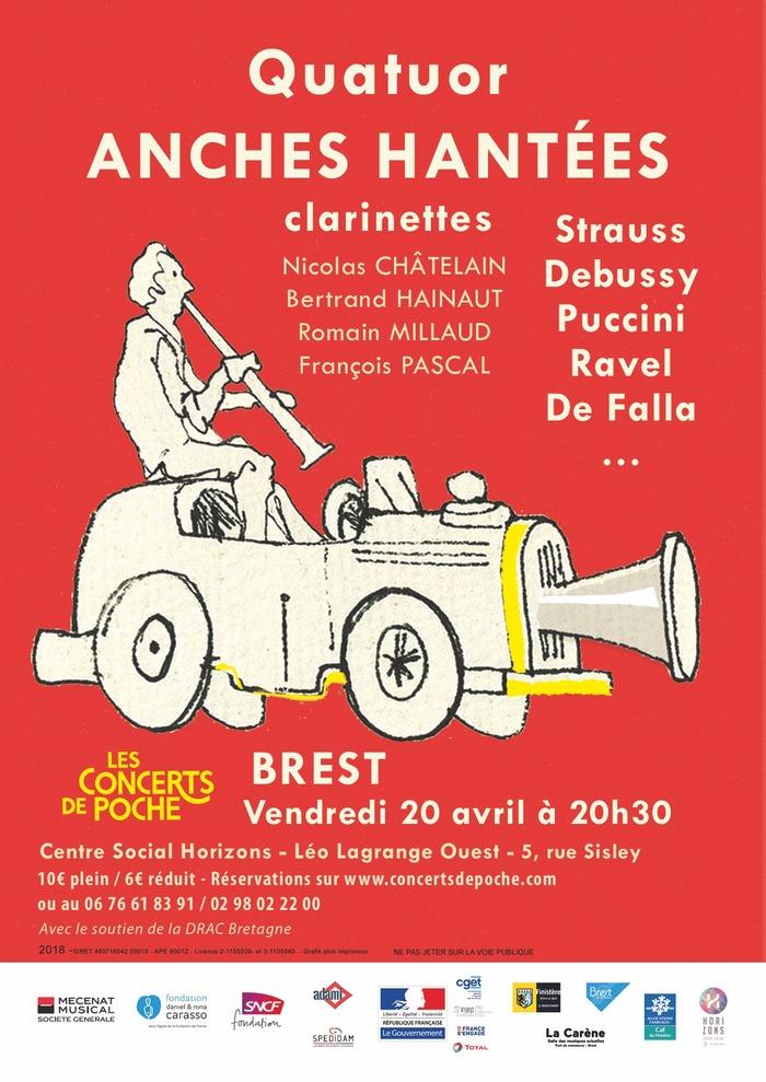 Concert de Poche : Quatuor ANHES HANTÉES clarinettes