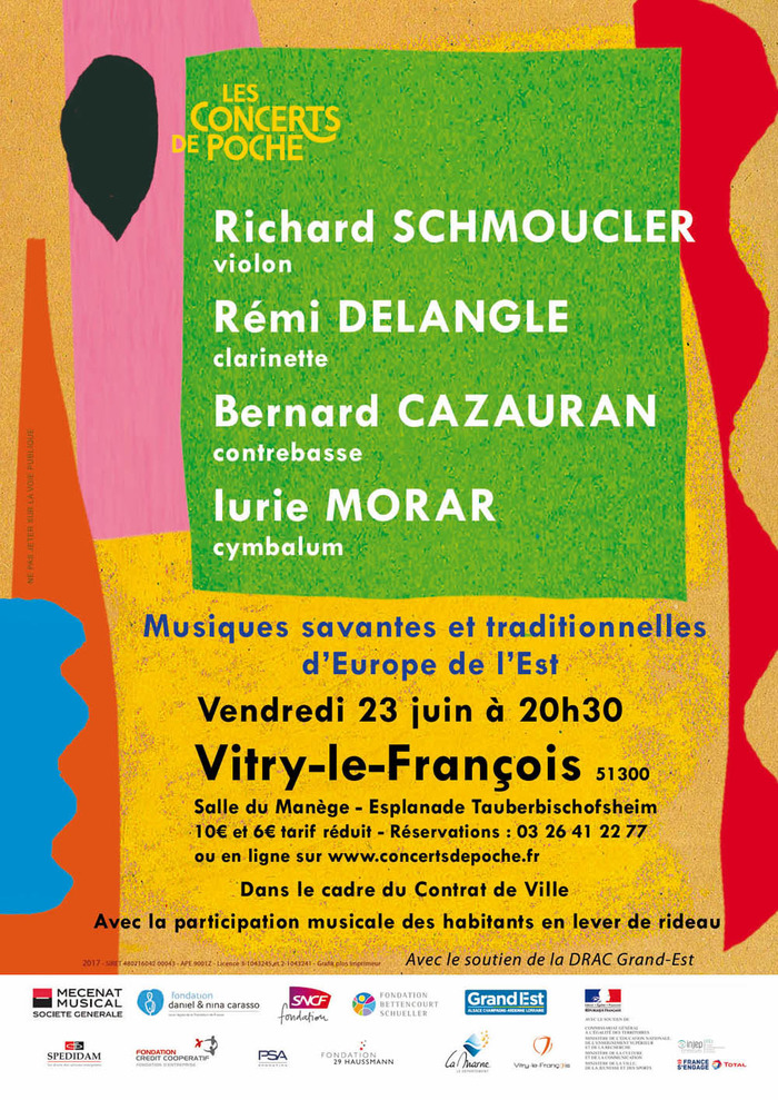 Concert de Poche : R. SCHMOUCLER violon, R. DELANGLE clarinette, B. CAZAURAN co…