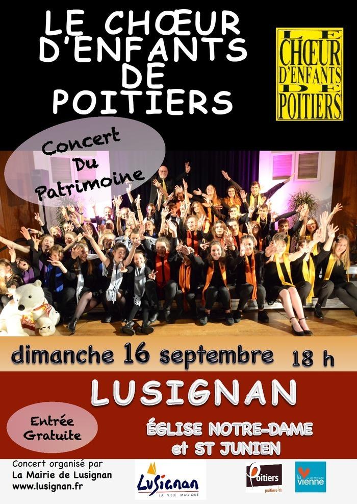 Journées du patrimoine 2018 - Concert du patrimoine par le choeur des enfants de Poitiers