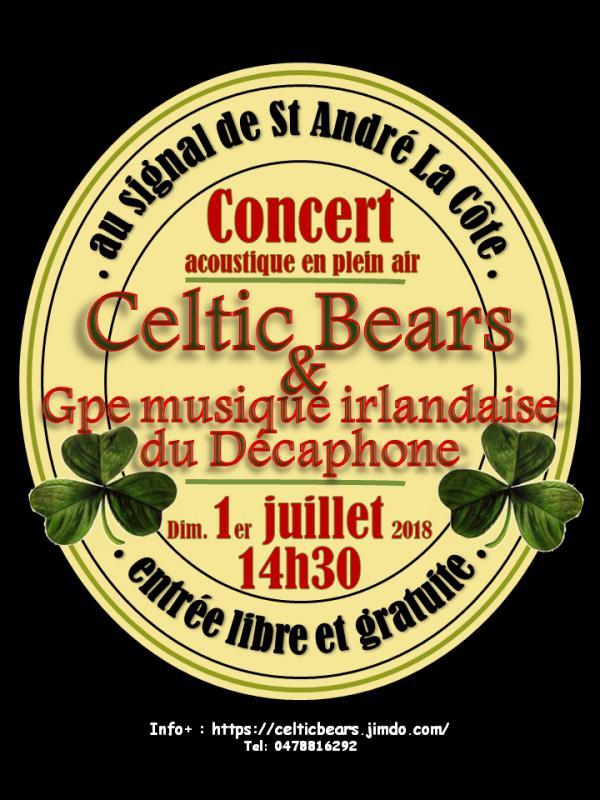Concert musique Irlandaise au signal de Saint André La Côte