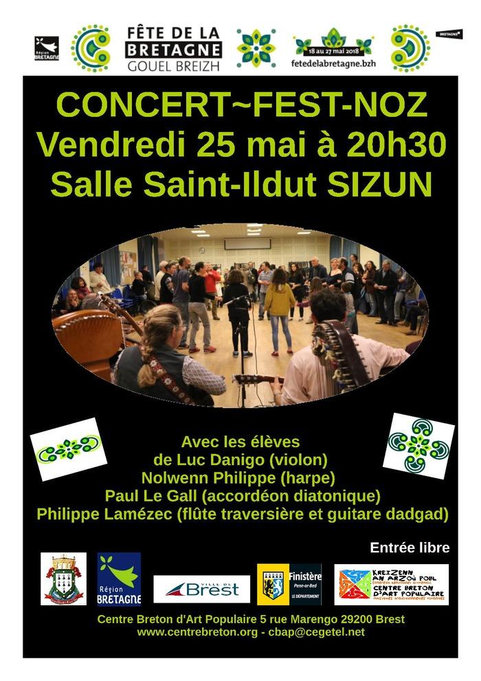Concert et Fest-Noz avec les élèves du Centre Breton d'Art Populaire