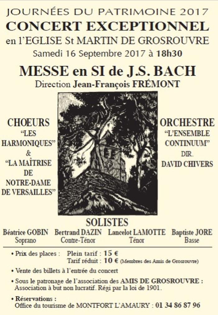 Journées du patrimoine 2017 - Concert messe en si de Bach
