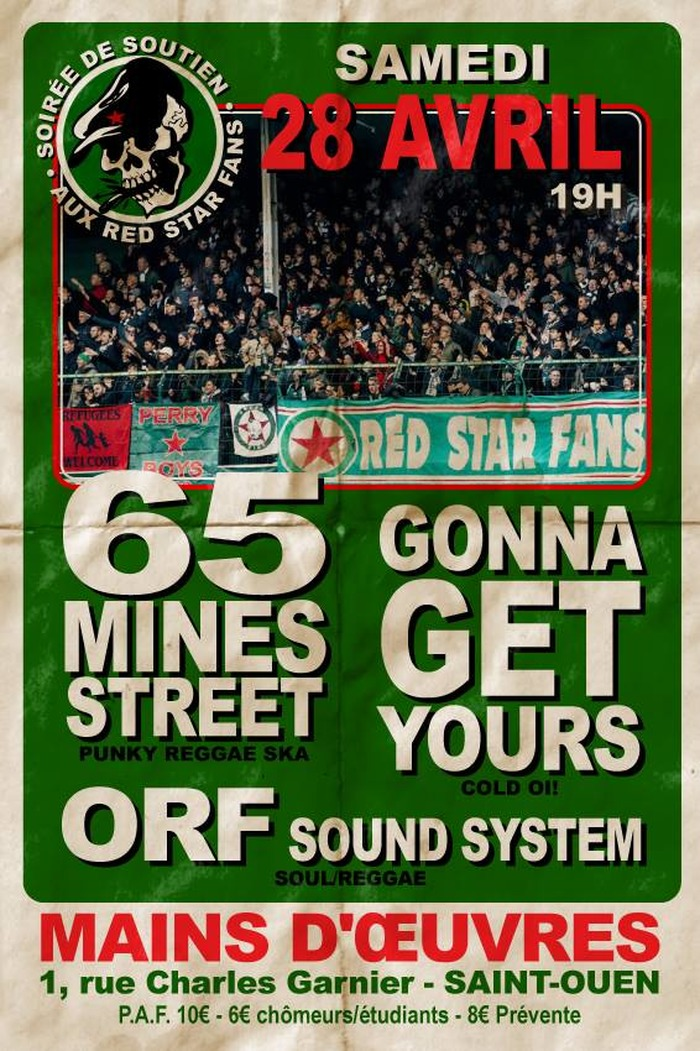 Concert RED STAR FANS : 65 Mines Street, Gonna Get Yours, ORF