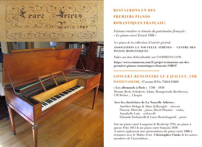 Concert - La Nouvelle Athènes - Pianos Romantiques