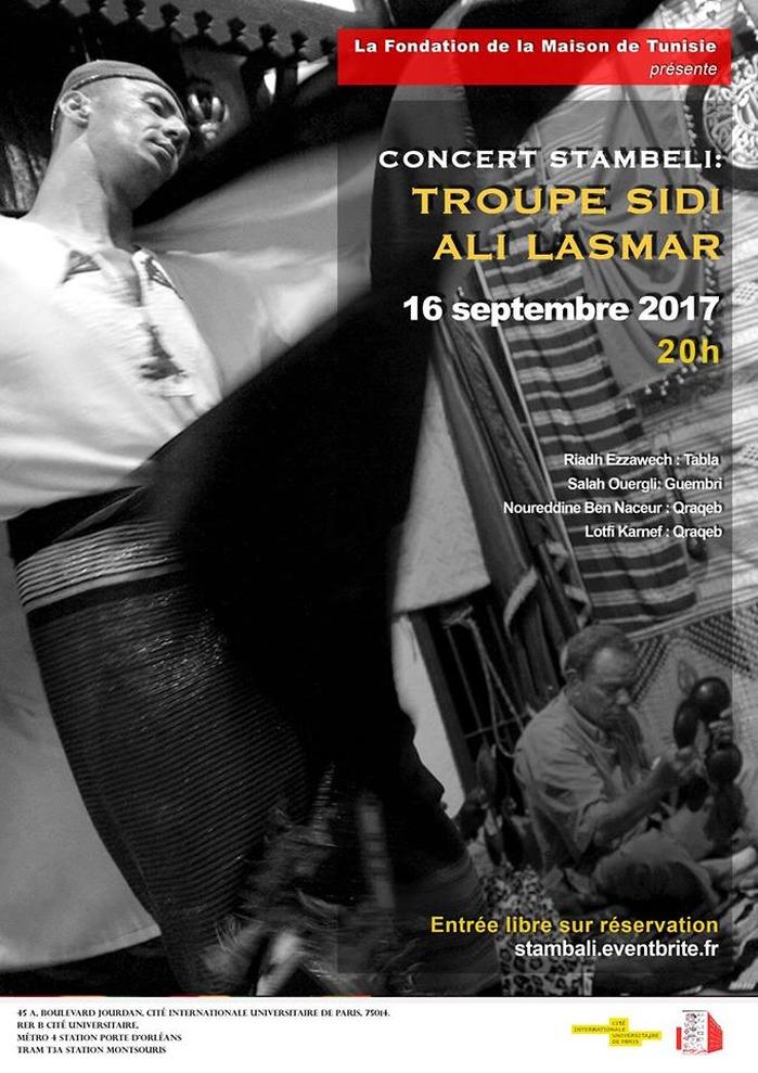 Journées du patrimoine 2017 - Concert Stambeli : Troupe Sidi Ali Lasmar - Fondation de la Maison de Tunisie