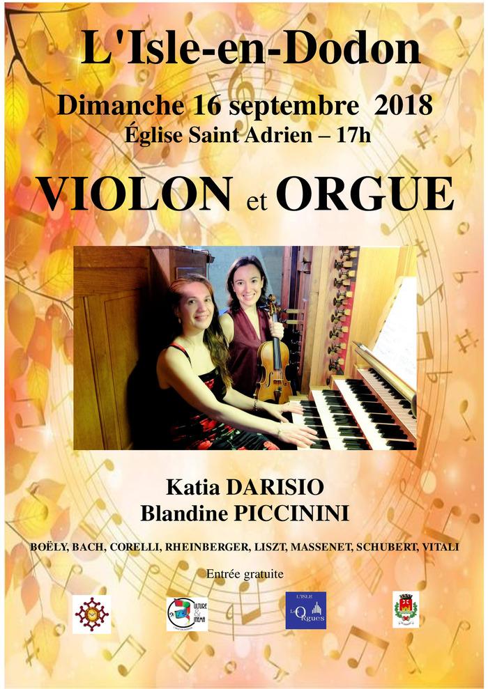 Journées du patrimoine 2018 - Concert violon et orgue