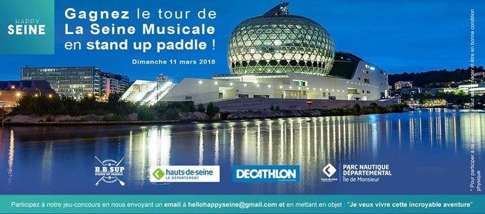 Concours : Avec Happy Seine, remportez un tour en paddle autour de la Seine musicale !