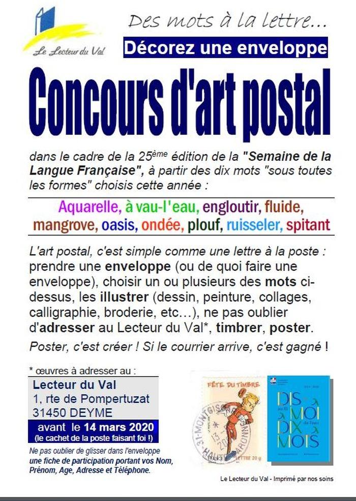 Concours d'Art Postal, jusqu'au 14 mars 2020