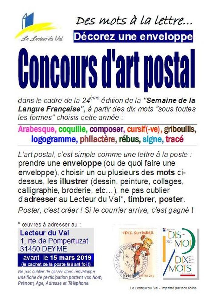 Concours d'Art Postal, jusquau 15 mars 2019
