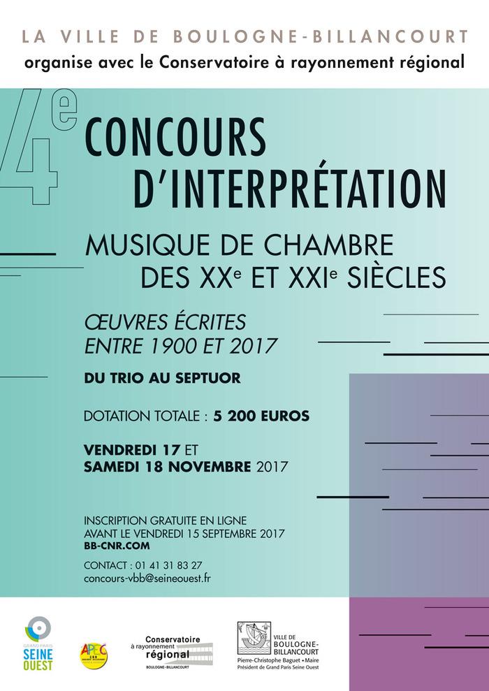 Concours d'interprétation du conservatoire à rayonnement régional de Boulogne