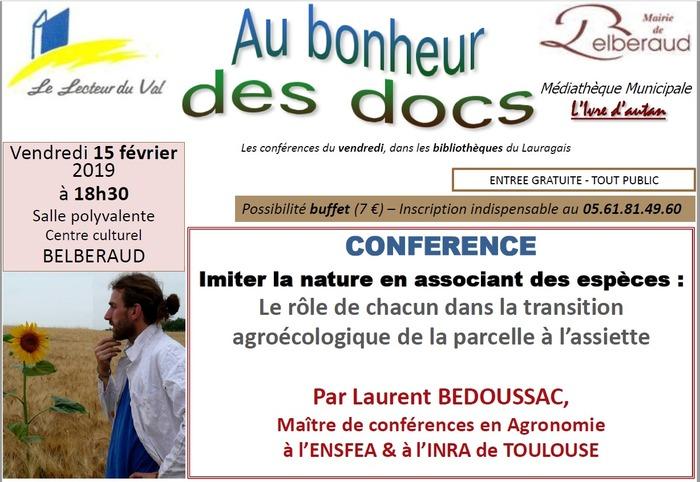 Conférence à Belberaud :
