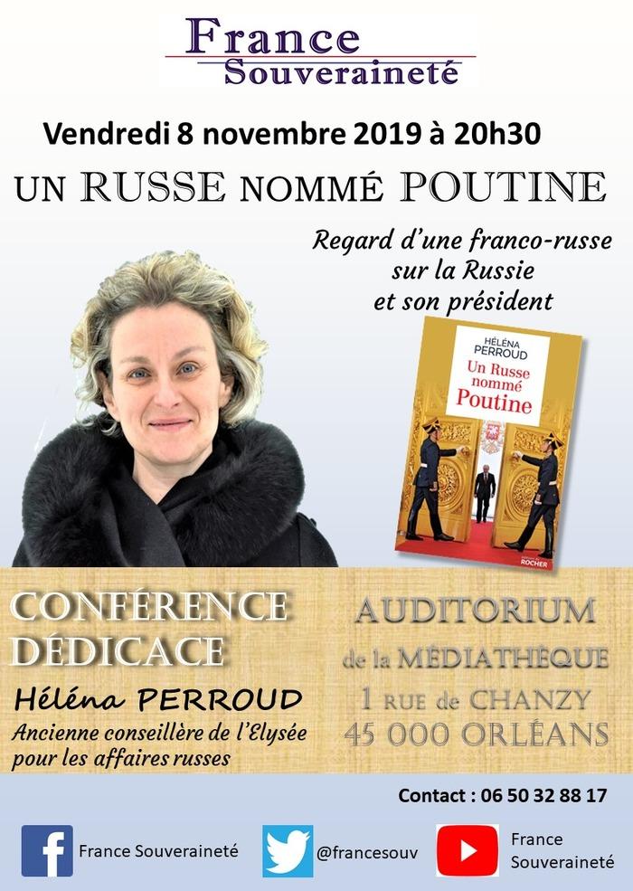 Conférence-dédicace par Héléna Perroud. Regard d'une franco-russe sur la Russie et son président