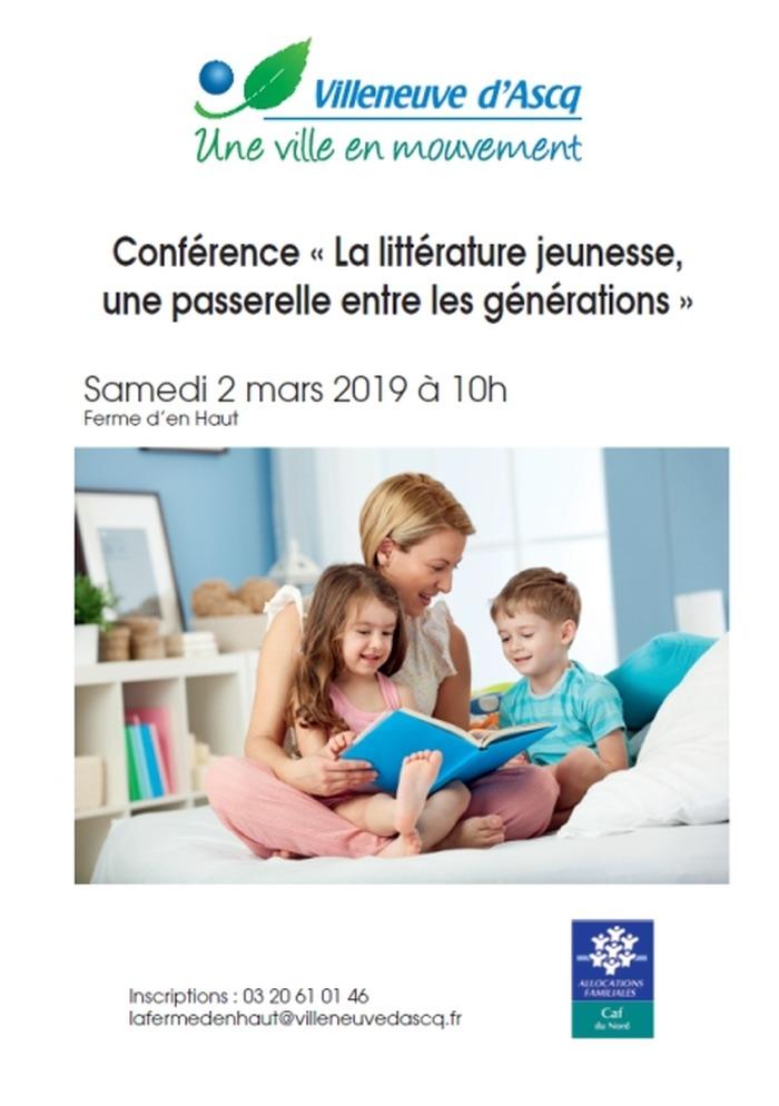 Conférence « La littérature jeunesse, une passerelle entre les générations »