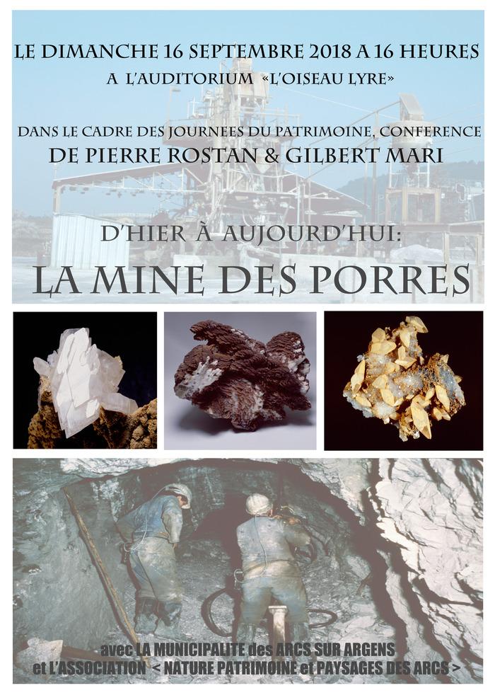 Journées du patrimoine 2018 - Conférence : la mine des Porres, d'hier à aujourd'hui