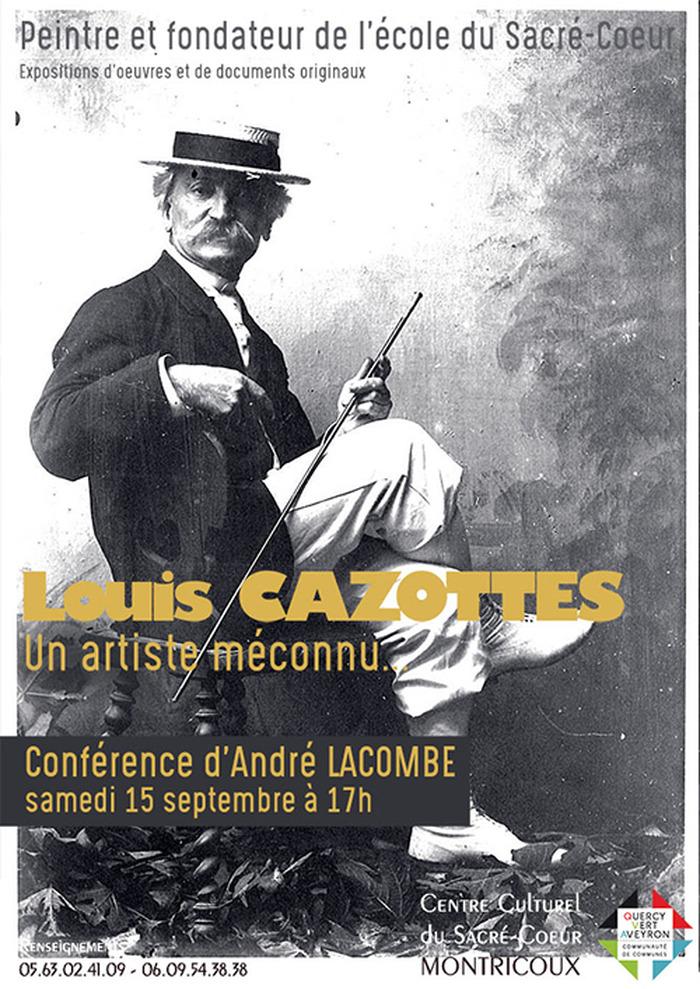 Journées du patrimoine 2018 - Conférence sur Louis Cazottes, un artiste méconnu