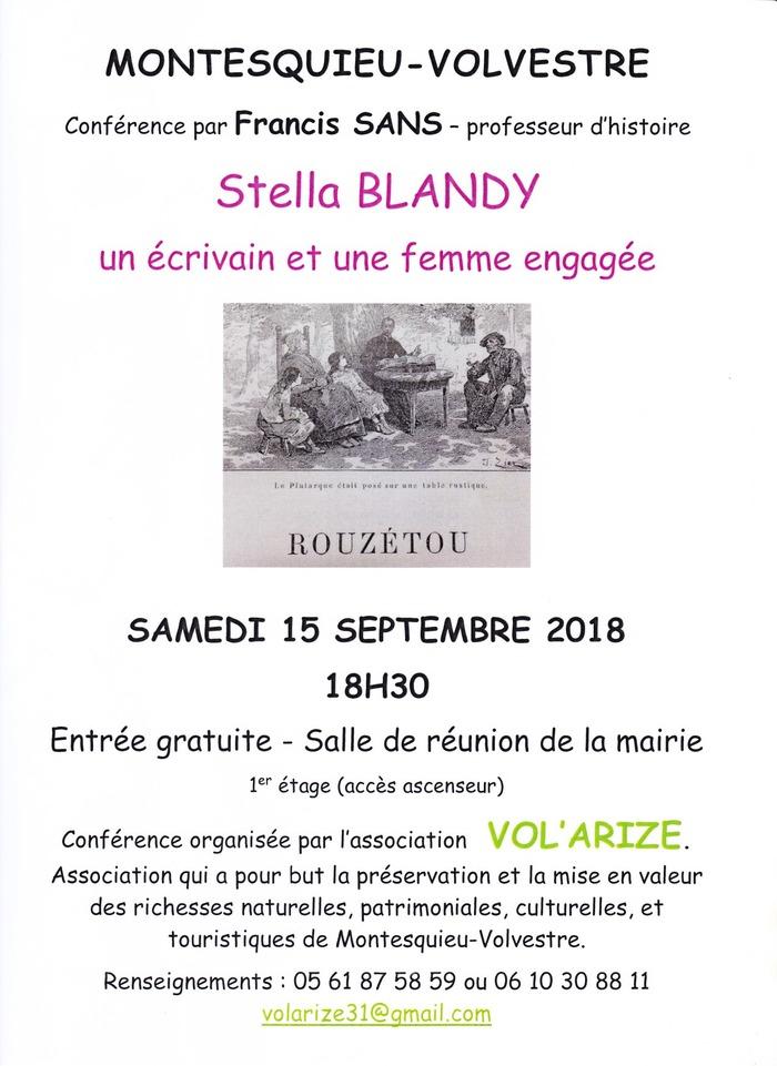 Journées du patrimoine 2018 - Conférence sur Stella Blandy