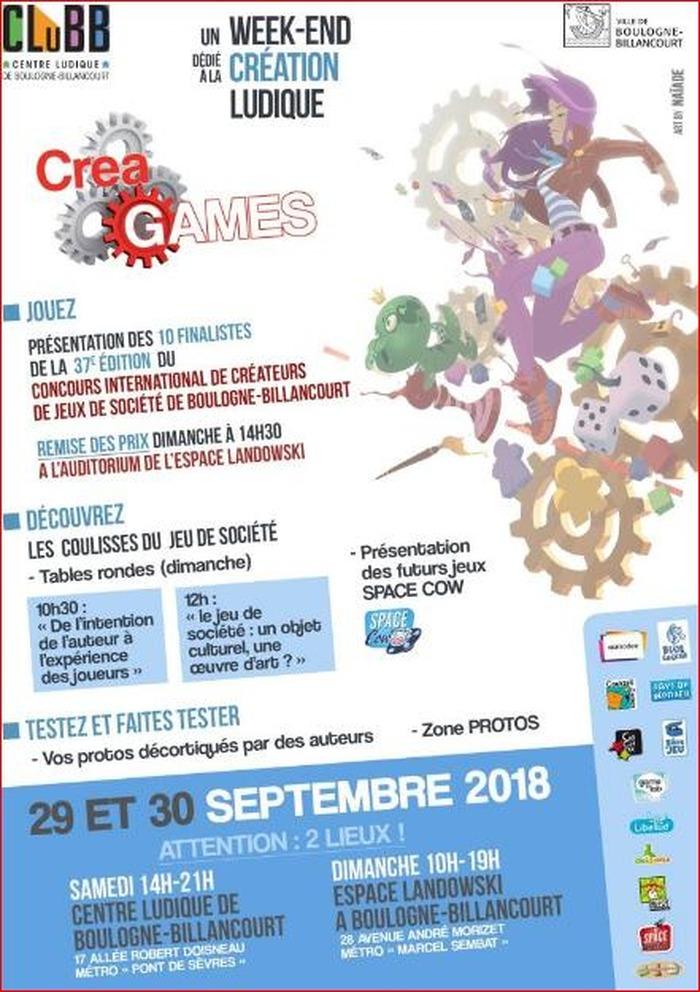 Créagames et le Concours International de Jeux de Société