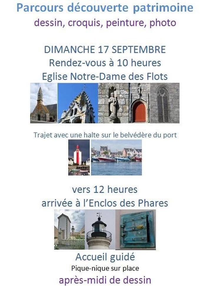 Journées du patrimoine 2017 - Croq'Patrimoine (Eglise N-D des Flots, le Port et le Phare Cros-Malo, l'Enclos des Phares)