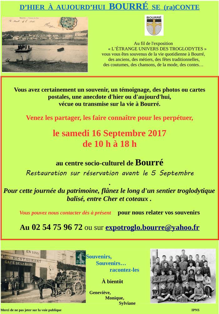 Journées du patrimoine 2017 - D'hier à aujourd'hui Bourré se raconte