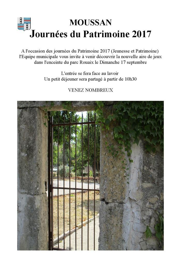 Journées du patrimoine 2017 - DECOUVERTE AIRE DE JEUX DU PARC ROUAX