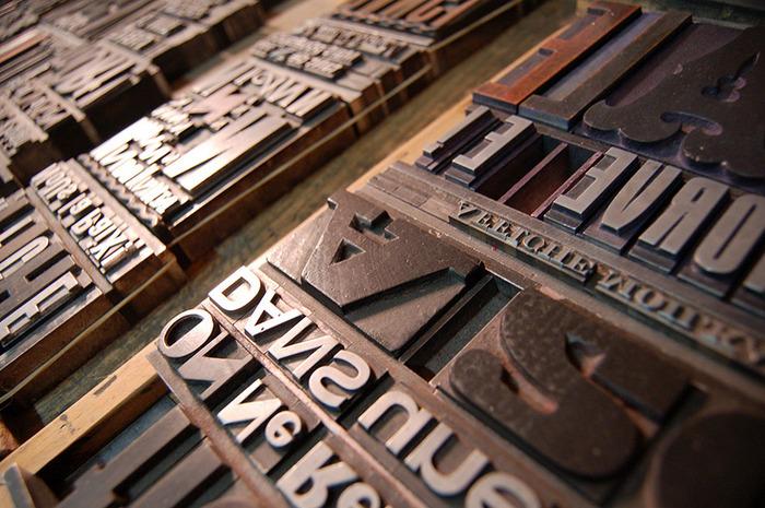 Affiche Moilkan découverte de l'atelier de typographie traditionnelle et de gravure