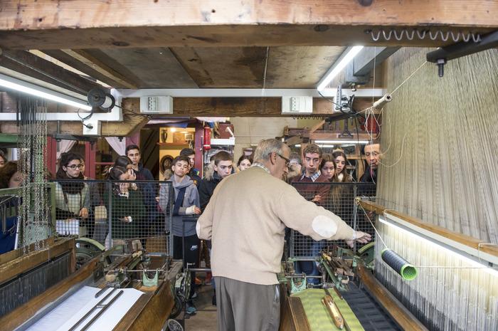 Journées du patrimoine 2018 - Découverte de l'atelier municipal de tissage.