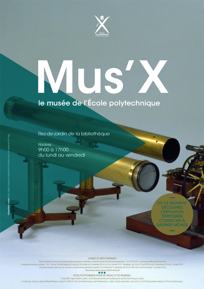Journées du patrimoine 2018 - Musée de l'École polytechnique - Découverte de l'École polytechnique à travers son patrimoine