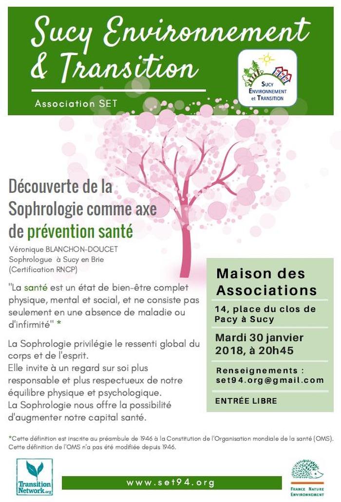 SET - Découverte de la Sophrologie comme axe de prévention santé