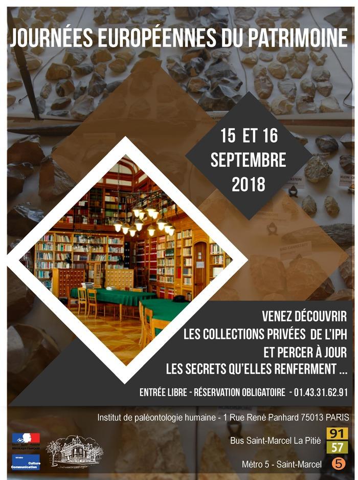 Journées du patrimoine 2018 - Découverte des collections privées de l'Institut de Paléontologie Humaine