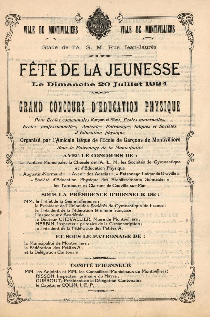 Crédits image : ©Ville de Montivilliers – Fonds Patrimonial, Bibliothèque municipale Condorcet