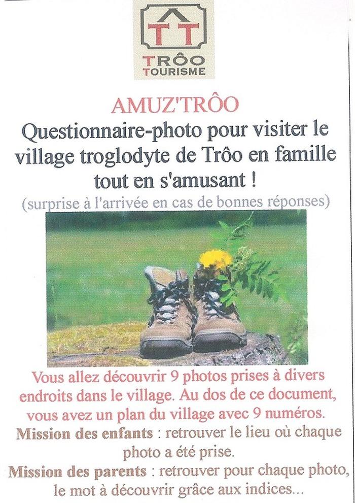 Journées du patrimoine 2017 - Découverte du village troglodyte de Trôo en s'amusant