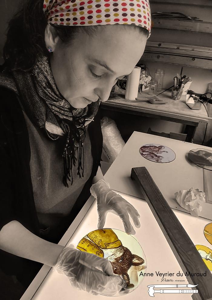 Journées du patrimoine 2018 - Découverte du vitrail avec Anne Veyrier du Muraud, peintre verrier