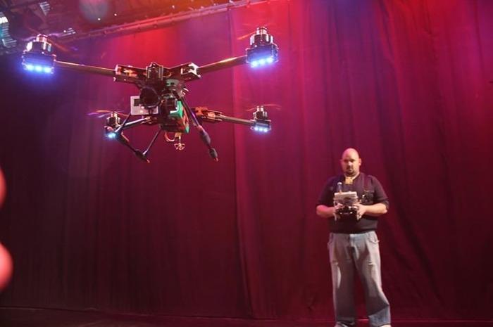 Démonstration de drones avec le LOREM